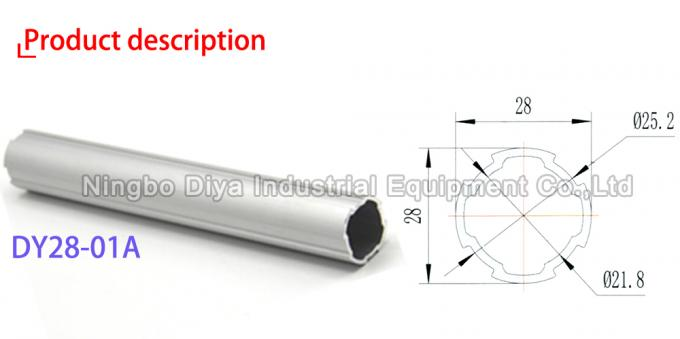 DY28-01A Aluminium Anti Static Pipe Round Profile With Simple Assembly