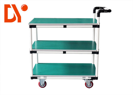Turn Over Colorful Pipe Metal Work Cart Anti Static With Steel Plate Extrusion