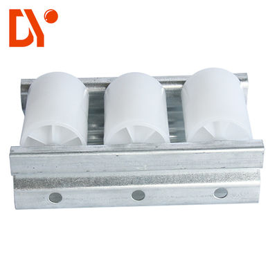 China White Color Plastic Roller Track Cold Pressing / Rolling Rust Proof Custom Length supplier