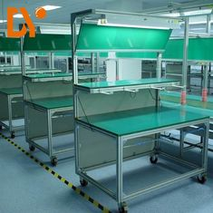 China Assemble Line Electronic Workstation Bench Custom Size Cold Pressing / Rolling supplier