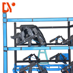 Blue Color Heavy Duty Workshop Trolley Custom Length For Assemble Line
