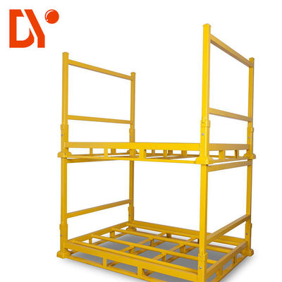 Workshop Rack Metal Storage Pallets , Cold Welded Steel Stacking Pallets