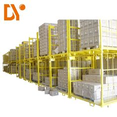 Welded Steel Stackable Metal Pallets Anti Corrosion For Workshop Rack
