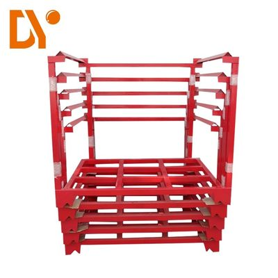 China Metal Foldable Stackable Pallet Racks Heavy Duty For Logistic Warehouse supplier