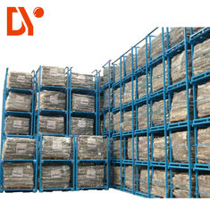 Anti - Corrosion Stackable Pallet Racks Blue Color With Storage Function OEM