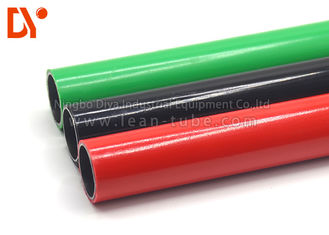 Plastic Coated Lean Tube Anti Rust Round Shape Customer Size For Decoration