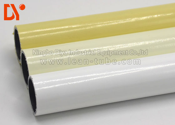 Colorful Plastic Coated Steel Tube Lightweight Round Shape For Lean Warehouse Shelves