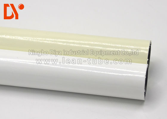 Anti Corrossion Lean Tube Coated White / Yellow Color Stable Structure