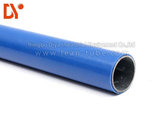 Colorful Pe Coated Steel Pipe , Plastic Coated Steel Pipe For Workshop