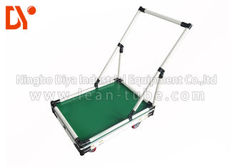 Lean Pipe Tote Cart Turnover Trolley Recyclable For Automobile Parts
