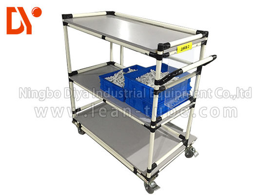 Recycling Tote Cart Turnover Trolley Cold Welded Glossy Surface For Workshop