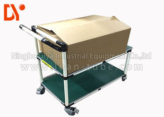 Hand Pushed Tote Cart Aluminium Profile Cold Welded Pipe 28mm Diameter