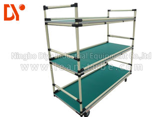 Hand Pushed Heavy Duty Tool Cart Aluminium Profile Welded Corrosion Resistance