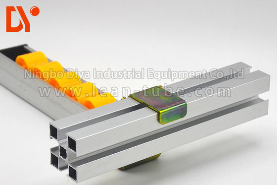 Assemble Line Roller Track Hardware Connector Metal / PU Material Customers Size