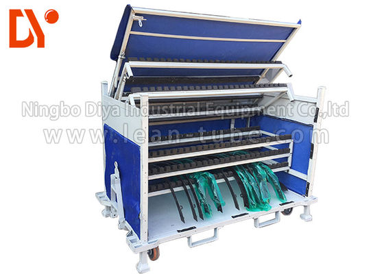 Vehicle Parts Workshop Tool Trolley Anti Corrosion Glossy Surface Long Service Life