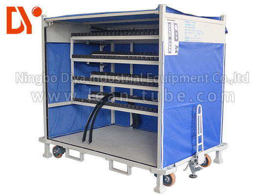 Anti Corrosion Mobile Tool Trolley , Lean Tube Connected Tool Trolley Cart