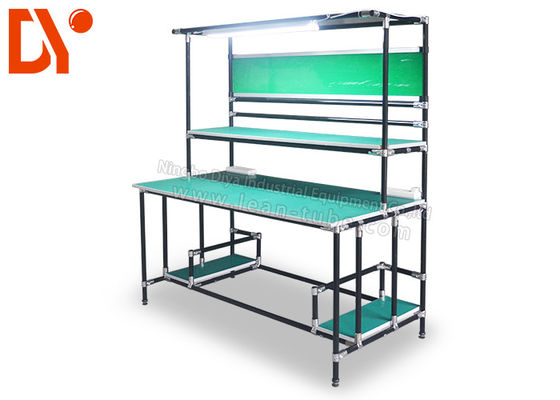 Workshop Lean Pipe ESD Work Table Clean Surface Wear Resistance Eco - Friendly