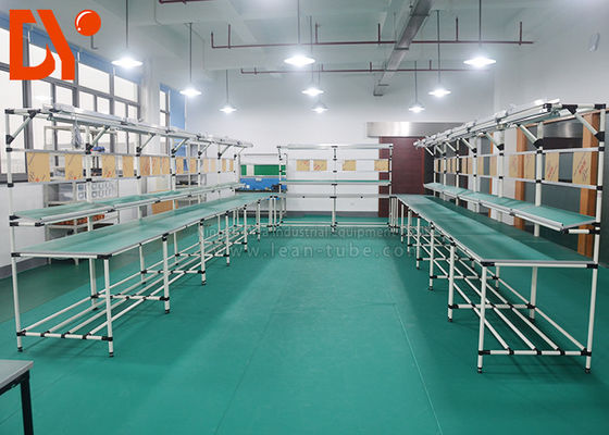 Lean Flexible Production Line , Automated Assembly Line With Conveyor Belt