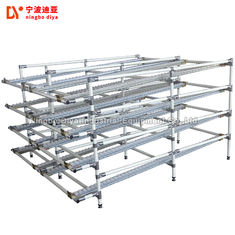 White Industrial Pipe Rack , Workshop Pipe Storage Systems With Lean Pipe