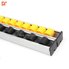 China Flow Rail Roller Track Conveyor , PP / ABS Gravity Roller Track 28mm x 25mm supplier