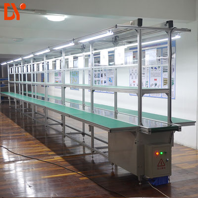DY1128 Double Face Conveyor Belt Line System ESD Assembly Line for electronics Workshop