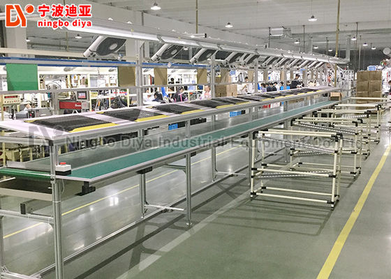 Automated Assembly Lean Production Line Adjusted Length With Conveyor Belt