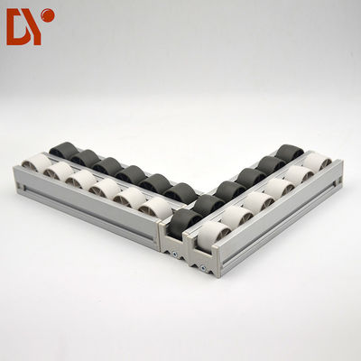 40*33 Aluminium Alloy Flow Rail PP Plastic Roller Track Durable For Industry