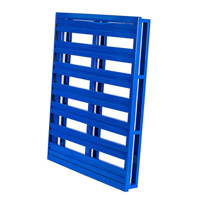 Warehouse Heavy Duty Stackable Metal Pallets Cold Rolled 4 Way Fork Enter