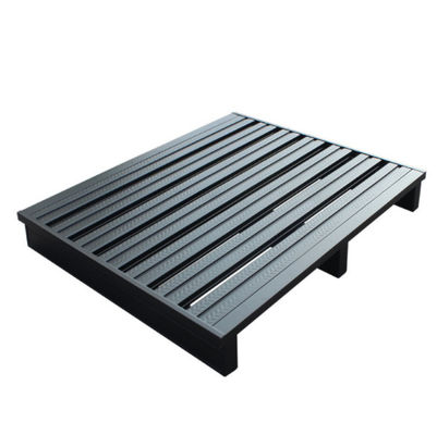 Durable Stackable Grey Heavy Duty Steel Pallets Powder Coating Single Faced