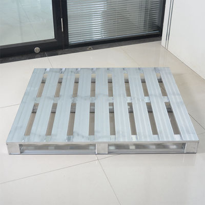 Silver Metal Storage Pallets / Aluminum Steel Stacking Pallets For Storage