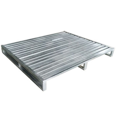Galvanized Stainless Steel Stackable Metal Pallets Durable Single Faced