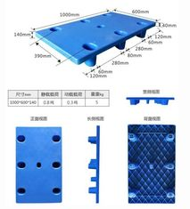 ISO9001 Approval HDPE Stackable Plastic Pallets 1040×760×145mm 0.8t Capacity