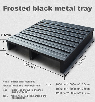 Durable Stackable Metal Pallet Box Powder Coating For Industrial Warehouse