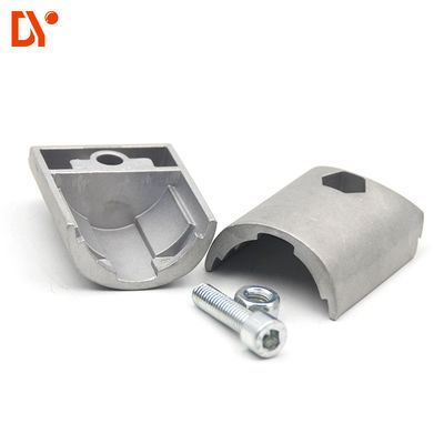 Lean Tube Connector Aluminum For Connecting 28mm Tube Oxidation Blasting