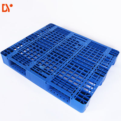 China 2 Way HDPE Stackable Plastic Pallets Single Faced 1500kgs Dynamic Load supplier