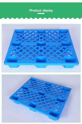 4 Way Entry HDPE Plastic Pallet / Supermarkets Light Duty Plastic Pallet