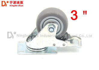 3 Inch Tpr Rubber Industrial Caster Wheels Swivel Lock Damping Casters