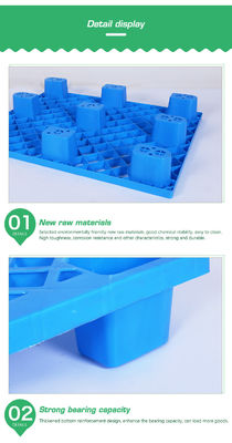 Storage Heavy Duty Stackable Plastic Pallets Racking System 1000kg Static Load