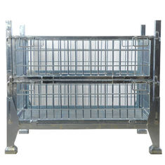 Portable Logistics Stackable Steel Pallets Bin Container For Industry