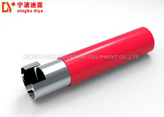 China Round Hot Melt Coated Lean Pipe Cold Rolled 28mm For Workshop Assembly supplier