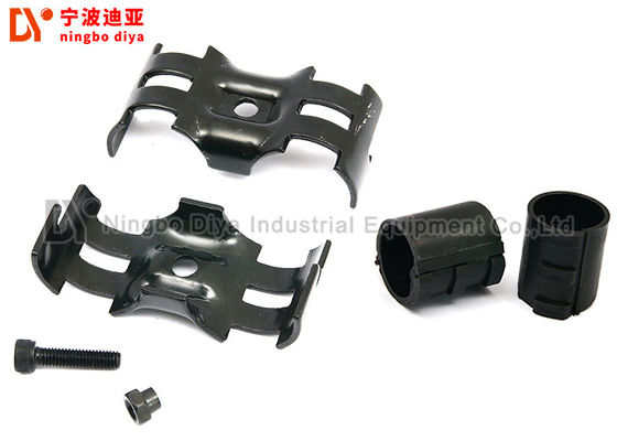 Black Color Pipe Rack Joint / Pipe Fitting System With Electrophoresis Surface