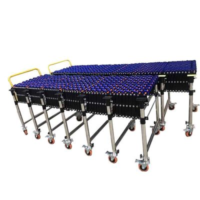 Skate Wheel Flexible Roller Conveyor Customized Size High Efficiency