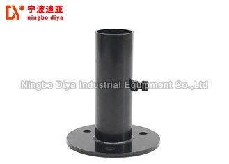 Fixed Black Metal Footings Cold Rolled Steel For Diameter 28mm Lean Pipe ISO9001