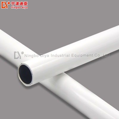 China Binder Od28mm Lean Pe Coated Steel Pipe For Rack Systems supplier