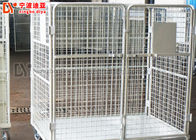 China Stacking 4.8-10mm Wire Mesh Box Custom Collapsible Metal Pallet Cage company