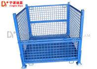 China Industrial Heavy Duty Metal Stackable Pallet Boxes Foldable Storage Cage company