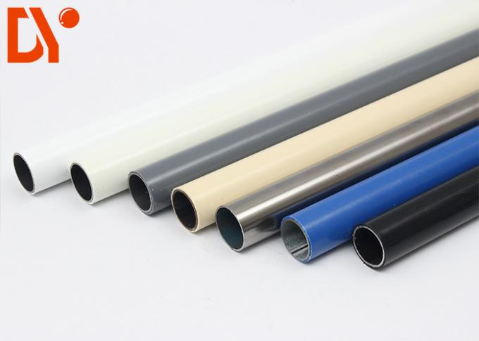 Cold Rolled Plastic Coated Steel Tube Diameter 28mm Custom Color For Workshop