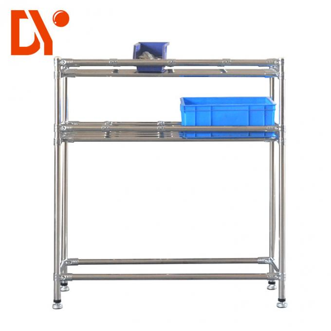 Decorative Pipe Racking System Anti Corrosion Cold Pressing / Rolling