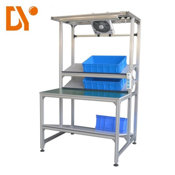 Assemble Line Electronic Workstation Bench Custom Size Cold Pressing / Rolling