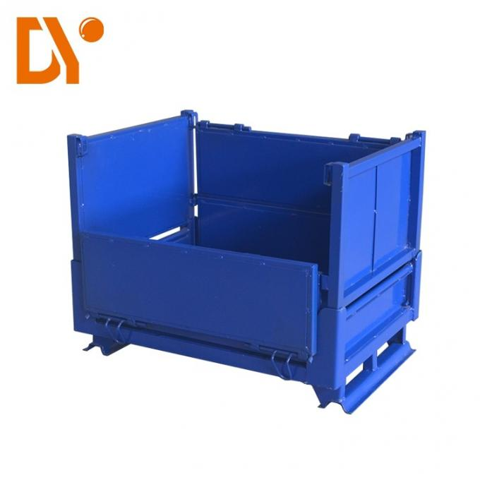 Steel Stackable Metal Pallets Four - Way Double Faced Customized Model